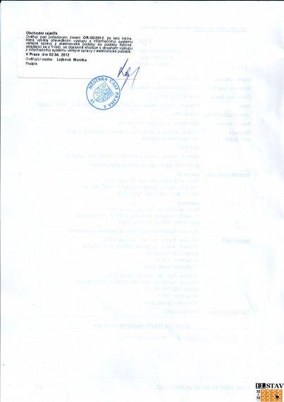 Výpis z obchodního rejstříku - strana 2