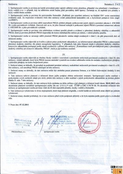 Dlouhodobá smlouva s PRE - strana 2