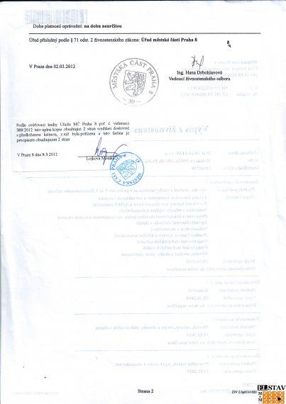 Výpis z živnostenského rejstříku - strana 2